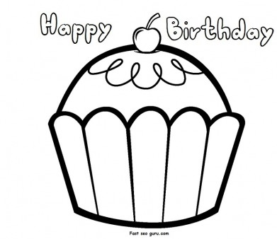 391x338 Birthday Pictures To Print 25 Unique Birthday Coloring Pages Ideas