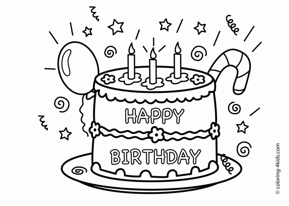 960x684 Breathtaking Happy Birthday Coloring Pages 38 On Seasonal
