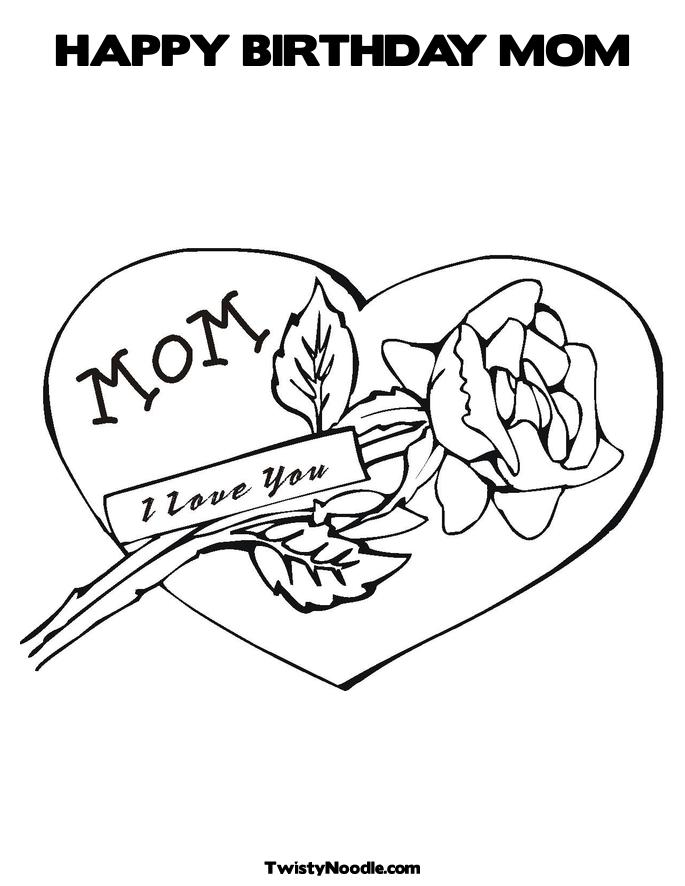 685x886 1 Mom Coloring Pages Happy Birthday