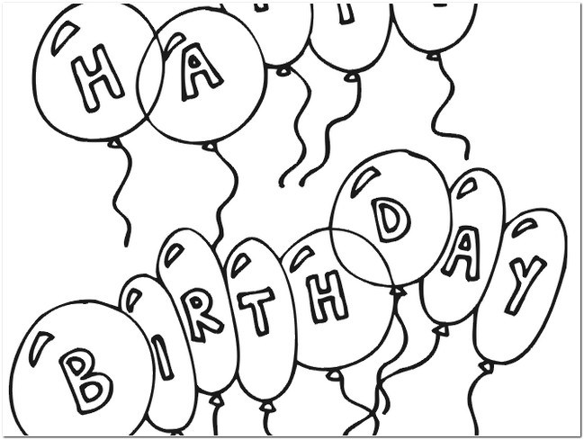 649x489 Happy Birthday Black And White Images For Drawing Bday Cakes Pic