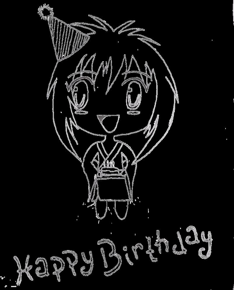 803x995 Happy Birthday Chibi Lineart By Blacklighttrance