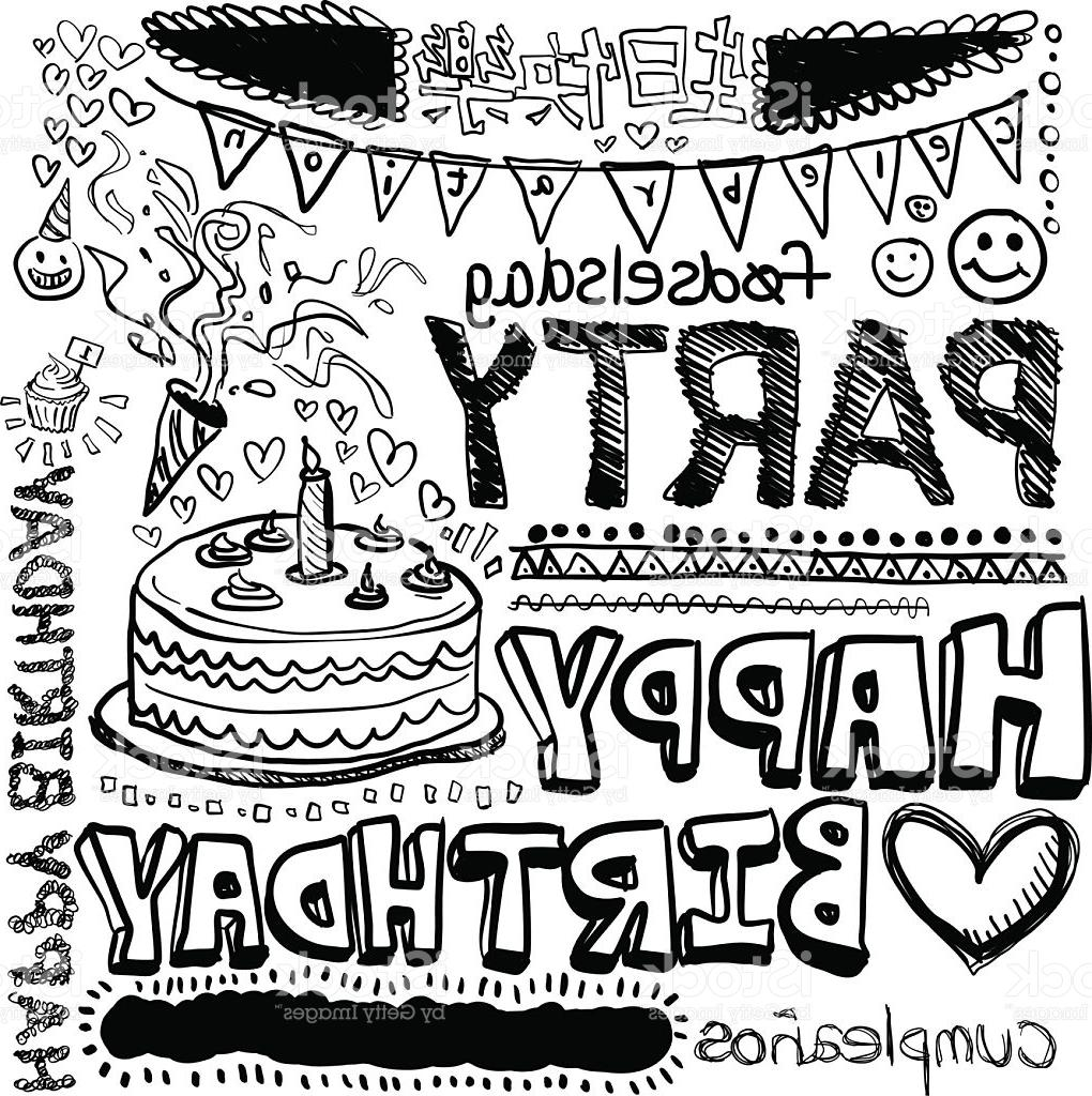 1020x1024 Top Happy Birthday Doodle Drawing Vector Photos