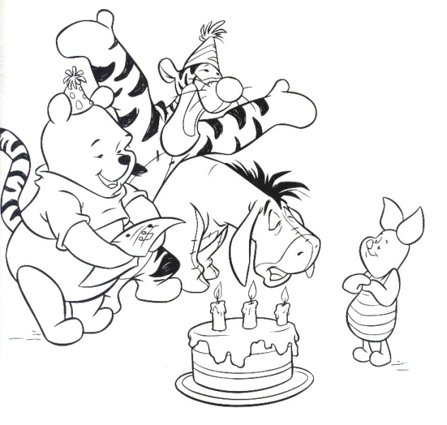 632x600 Winnie The Pooh's Happy Birthday Pages