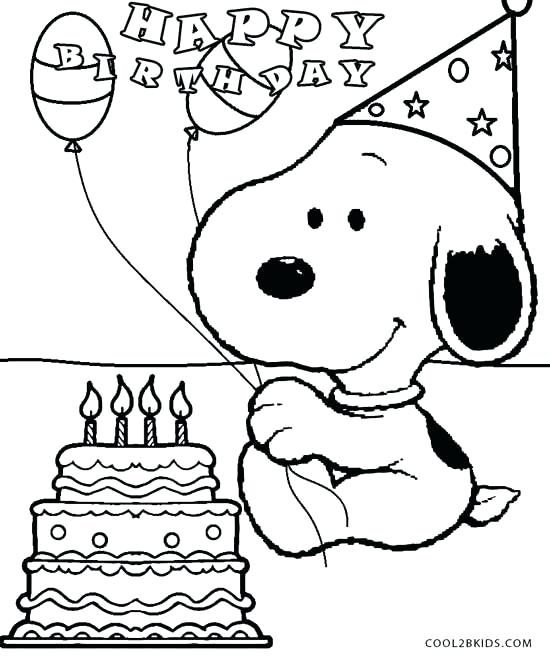 550x660 Coloring Pages For Birthdays Happy Birthday Coloring Pages