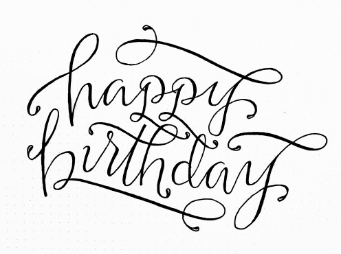 496x370 Happy Birthday Caligraphy Happy Birthday