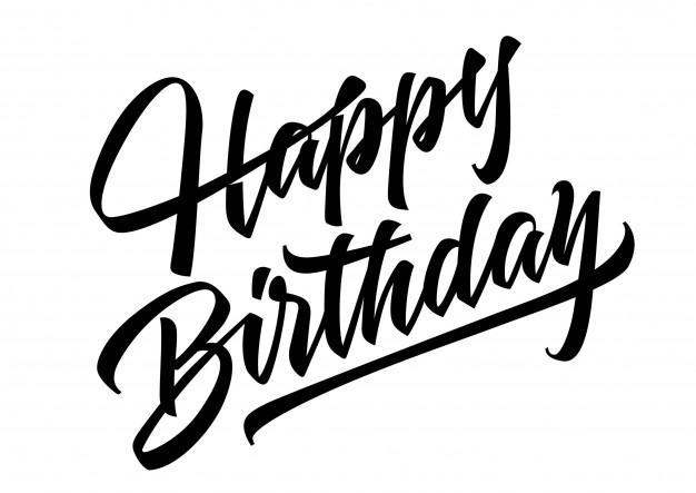 626x443 Happy Birthday Lettering Vector Free Download