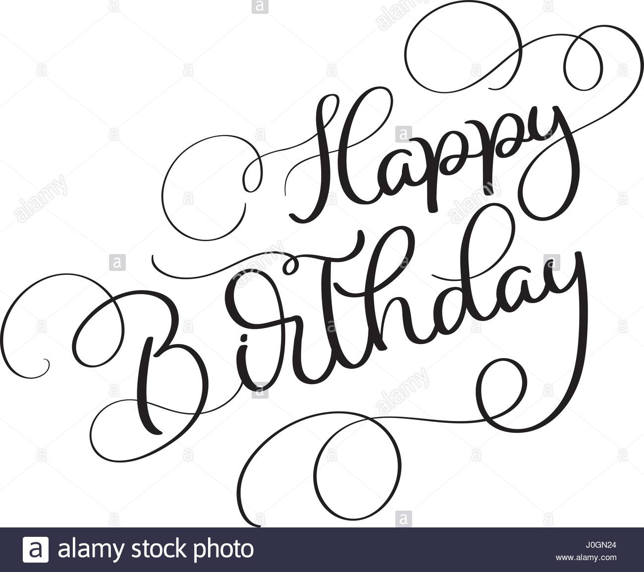 1300x1155 Happy Birthday Vector Vintage Text On White Background