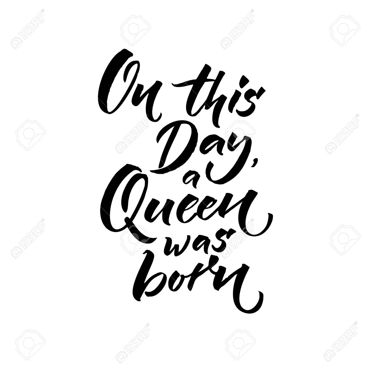 1300x1300 On This Day A Queen Was Born. Happy Birthday Text For Greeting