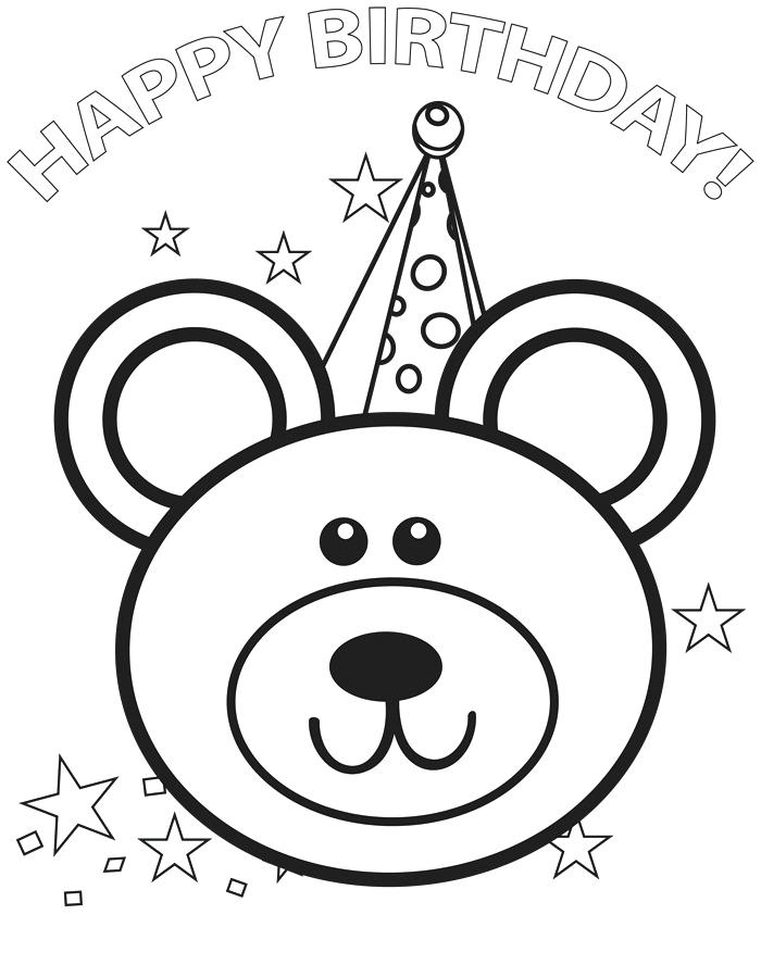 700x899 Coloring Pages Happy Birthday Happy Birthday Color Page Coloring