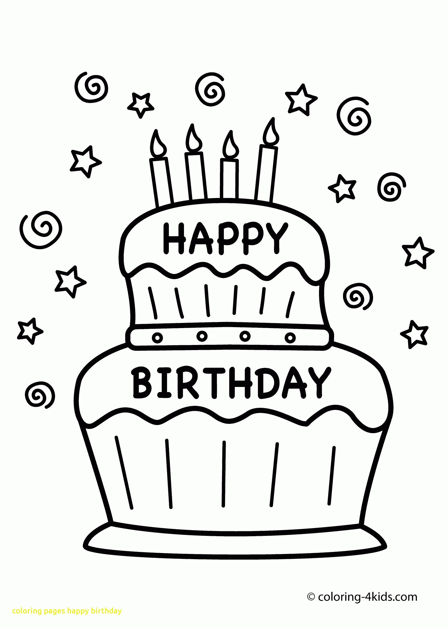 1483x2079 Coloring Pages Happy Birthday With To Download Happy Birthday