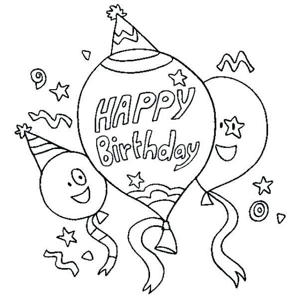 600x600 This Is Happy Birthday Coloring Pages Pictures Printable Happy