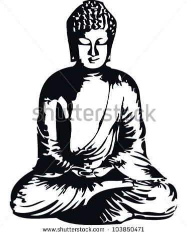 373x470 Happy Buddha Clipart