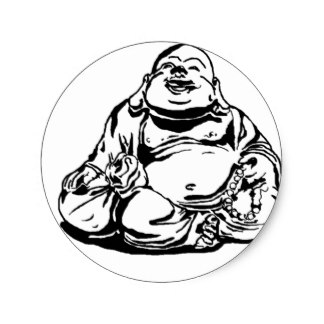 324x324 Happy Buddha Stickers Zazzle