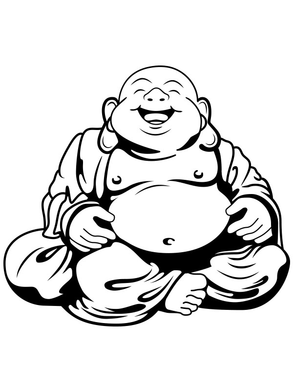 fat buddah coloring pages - photo#7