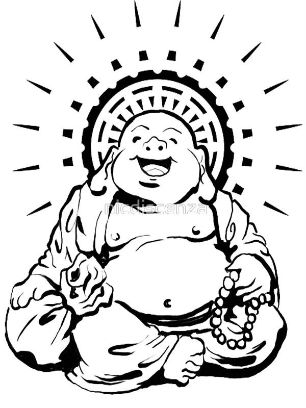 600x800 Sunburst Happy Buddha Stickers By Nicdiscenza Redbubble