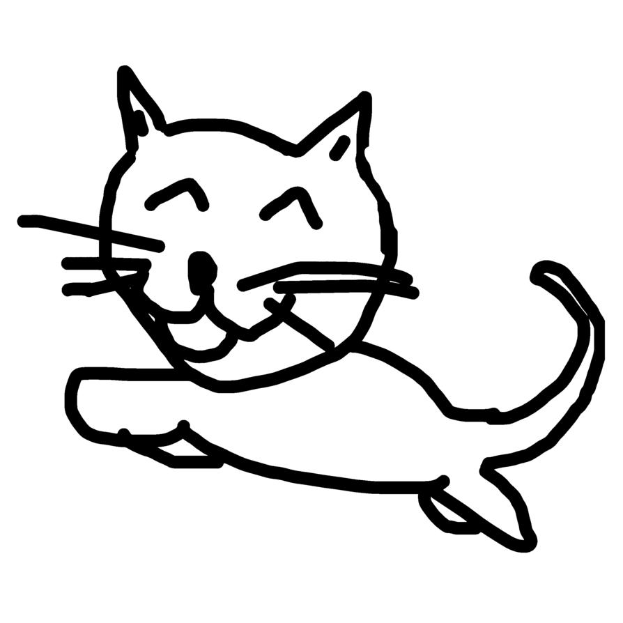 894x894 Happy Cat By Guichearmo