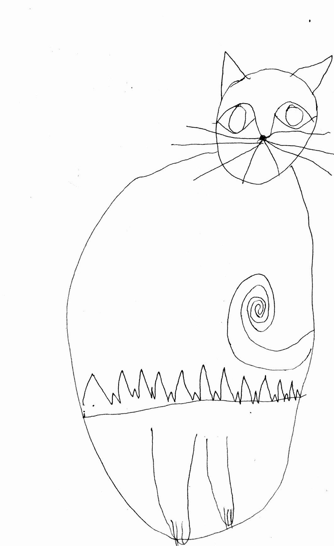 1063x1736 Happy New Year Cat Drawings Jo Treggiari