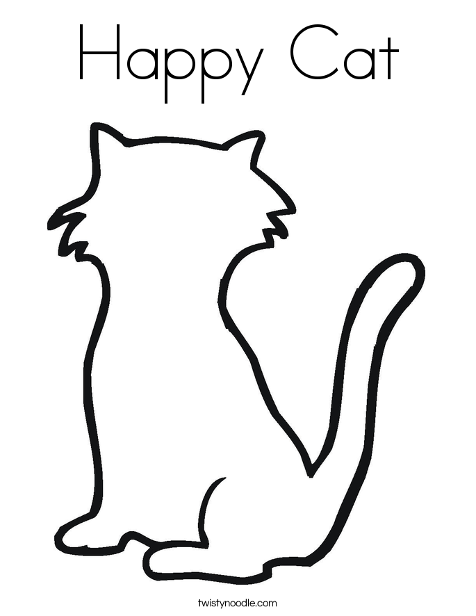 685x886 Happy Cat Coloring Page