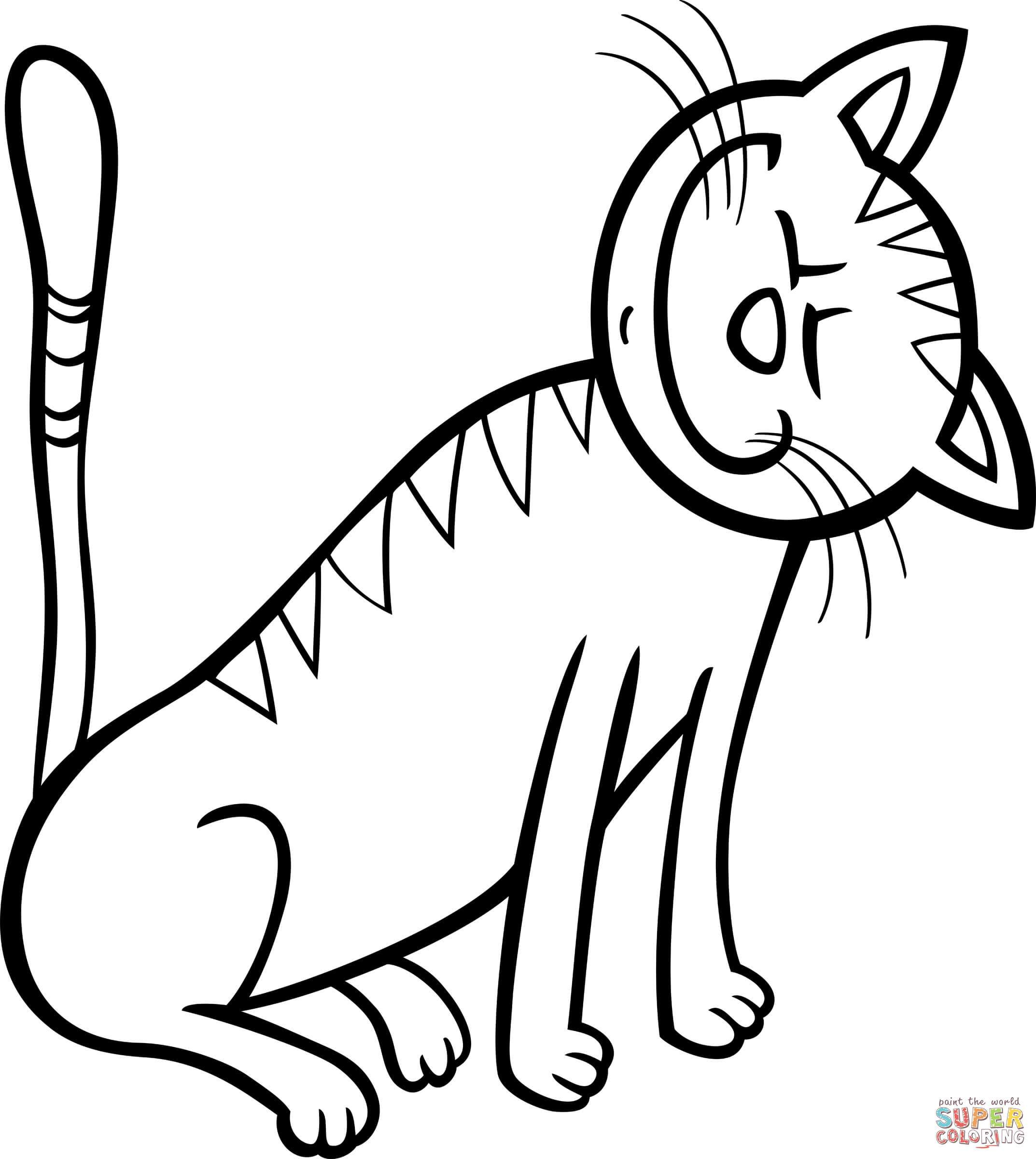 2146x2400 Awesome Happy Kitten Coloring Nice Page Unknown For Cat Ideas And