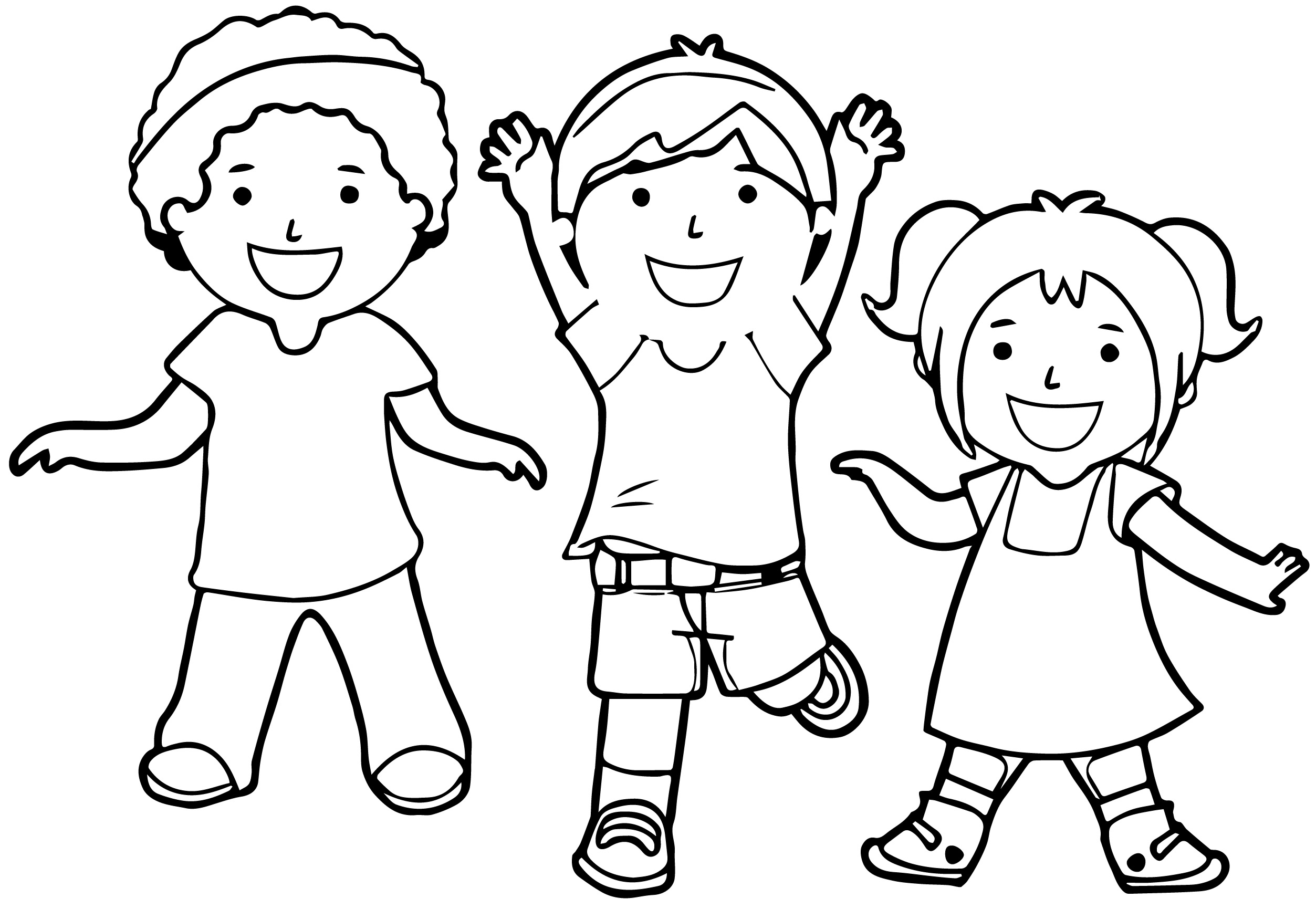 happy children coloring pages - photo#13