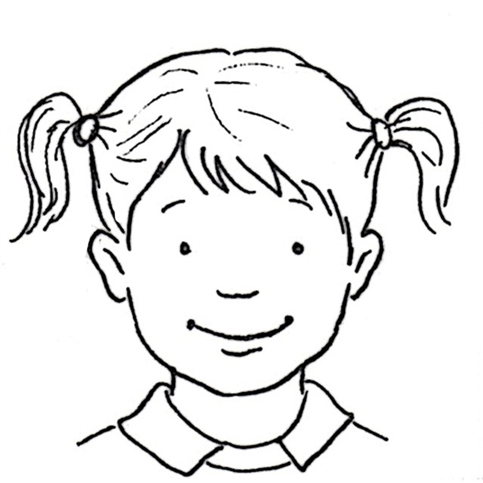 Line Drawing Of Child S Face : Happy child drawing at getdrawings free for personal