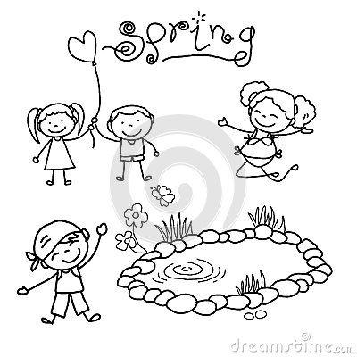 Happy Children Drawing