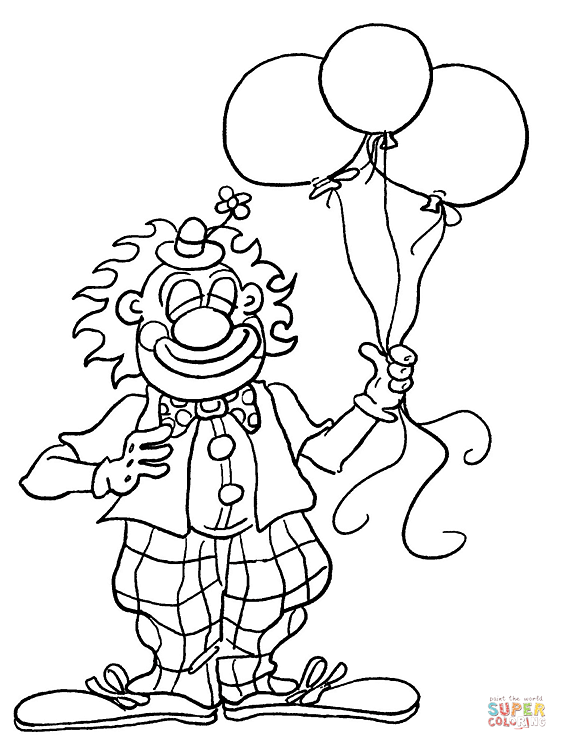 567x750 clown coloring pages free printable pictures