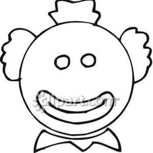 300x300 Clown With Big Smile Royalty Free Clipart Picture