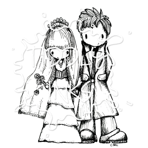 475x475 Happy Couple Wedding Digital Stamp