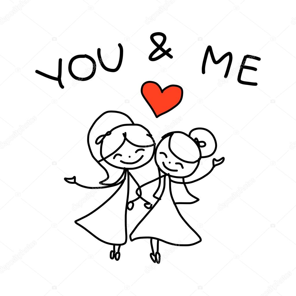 1024x1024 Cartoon Same Sex Couple Wedding Stock Vector Atthameeni