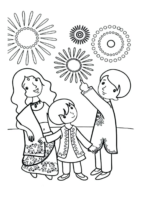 600x848 Diwali Coloring Sheets Colouring Pages For Kids Coloring Kids