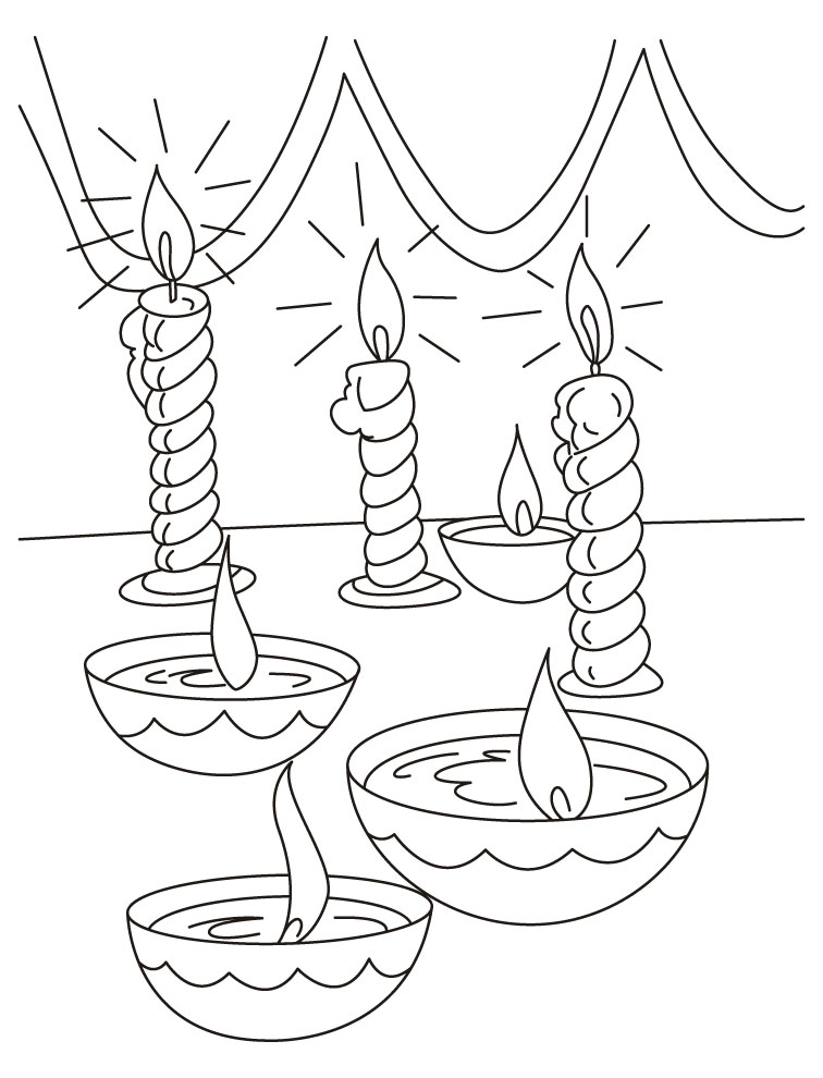 756x990 Diwali Drawing Pictures Diwali Painting Images And Colouring