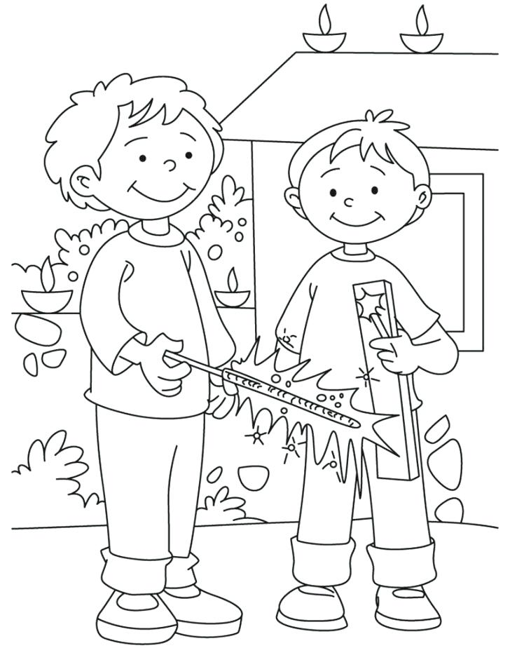 728x924 Diwali Coloring Pages