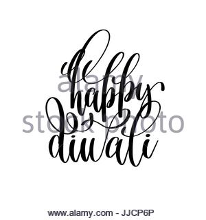 300x320 Hand Lettering Inscription Happy Diwali To Indian Fire Festival