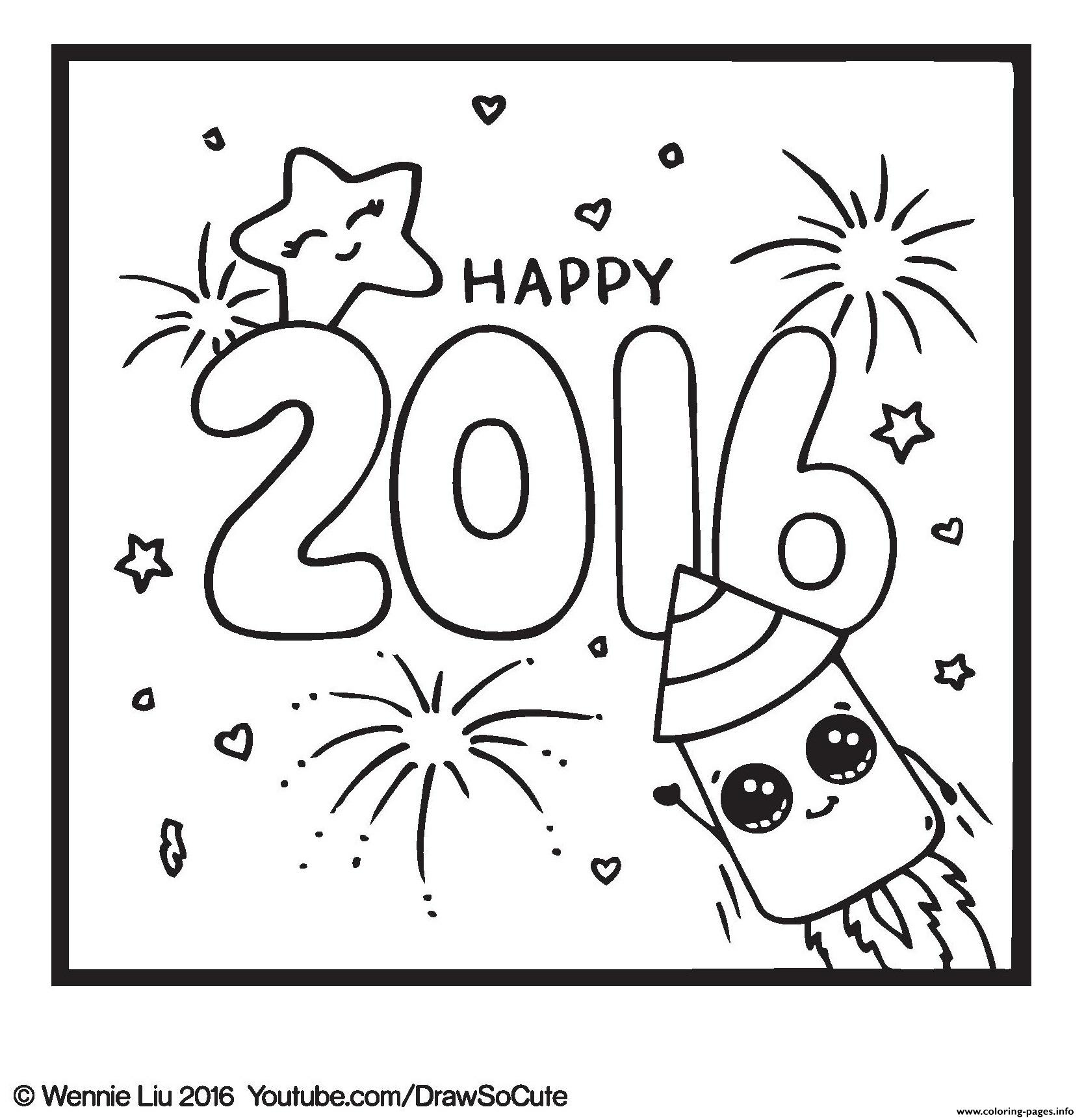 1668x1724 Happy New Year Draw So Cute Coloring Pages Printable