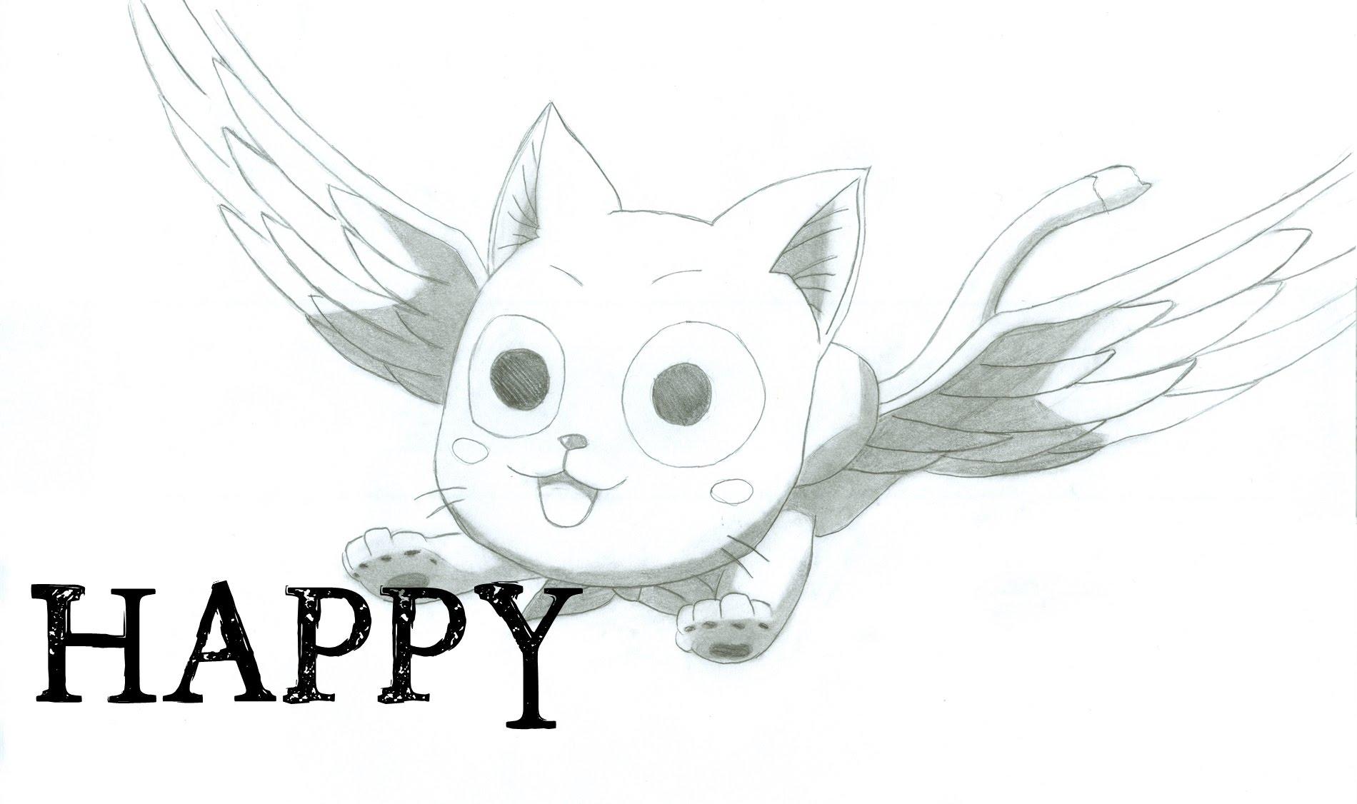 1900x1126 How I Draw Happy From Fairy Tail