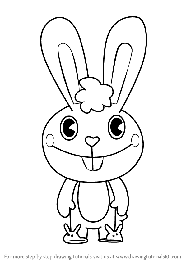 598x844 Learn How To Draw Cuddles From Happy Tree Friends (Happy Tree