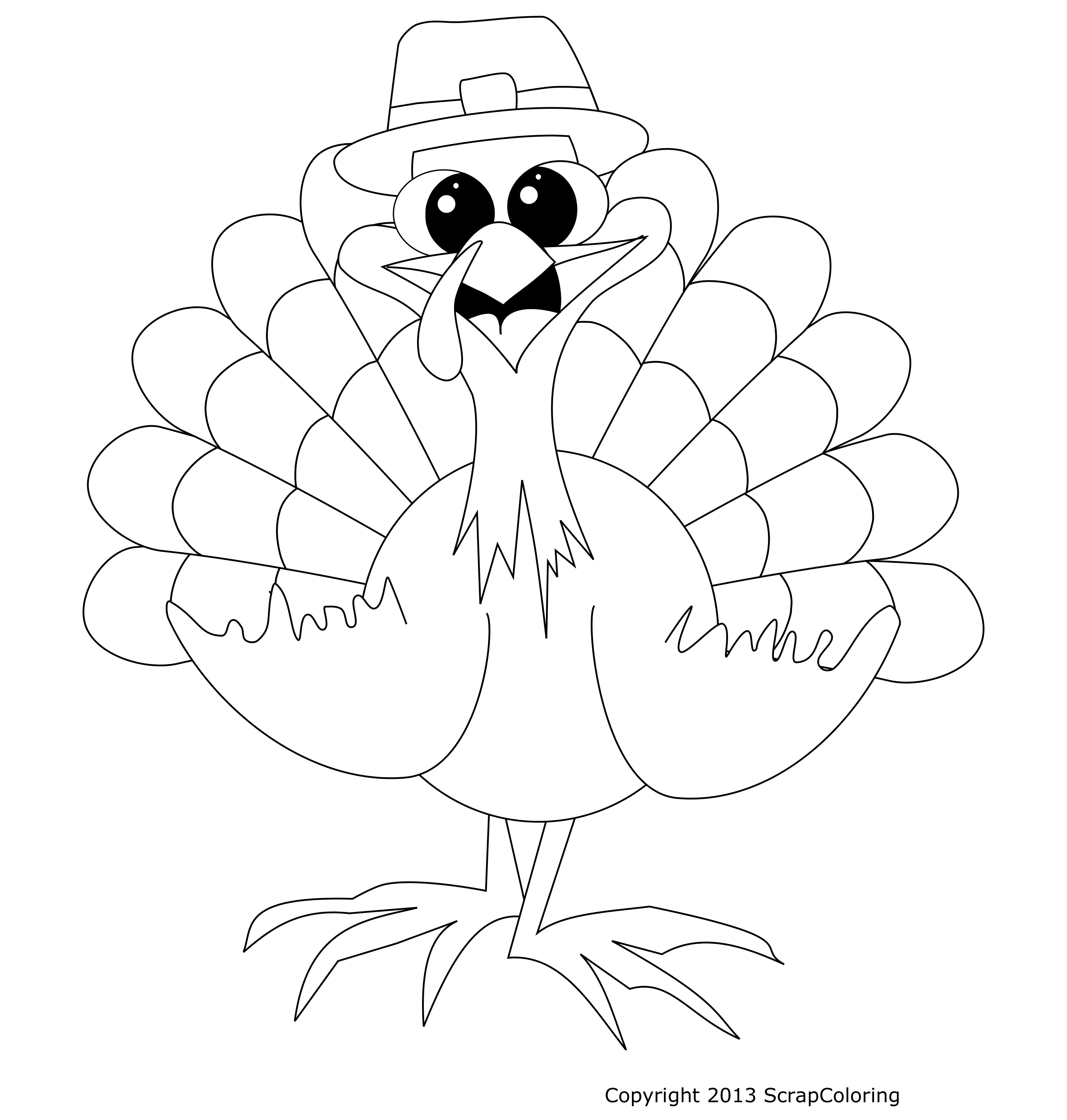 3600x3780 Happy Turkey Drawing Template Awesome Design Ideas