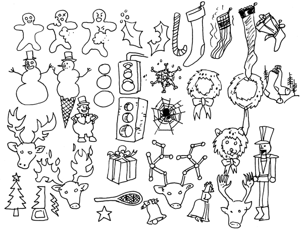 600x457 Christmas Card Drawing Ideas Easy Happy Holidays Xmas Drawing
