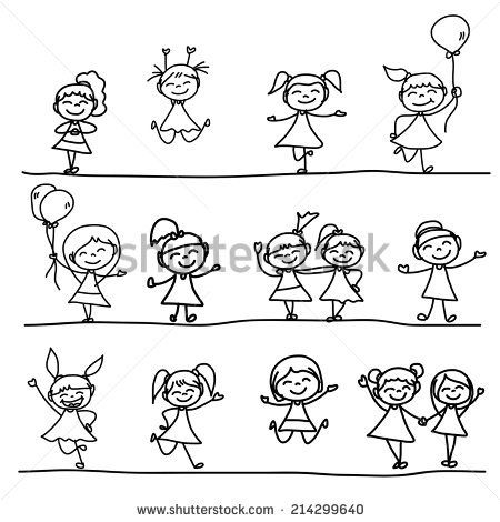 450x470 Hand Drawing Cartoon Happy Kids 3 Panel Canvas Ideas