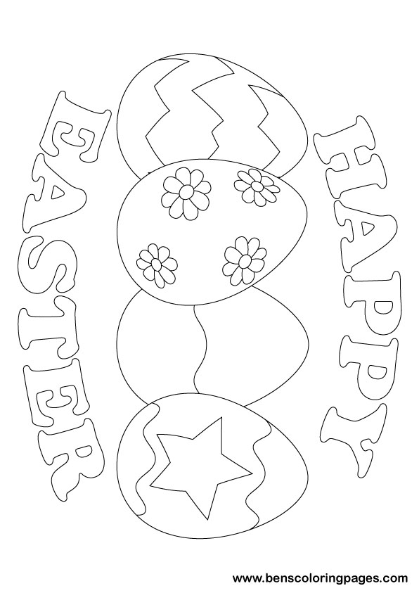 596x843 Happy Easter 2011 Coloring Page