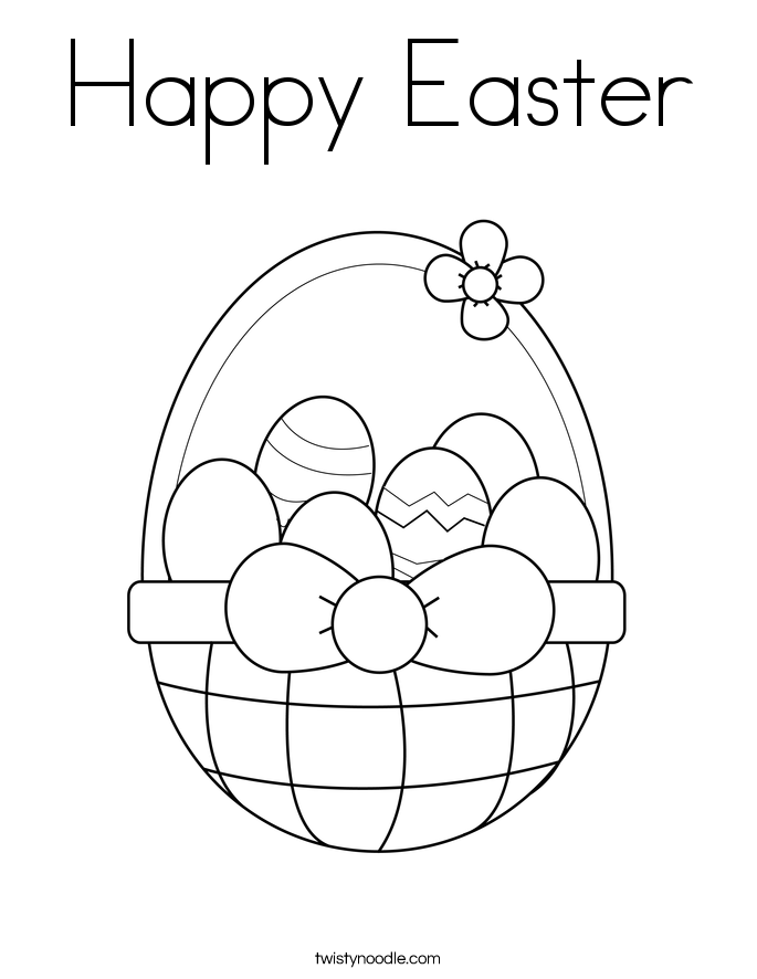 685x886 Happy Easter Coloring Page