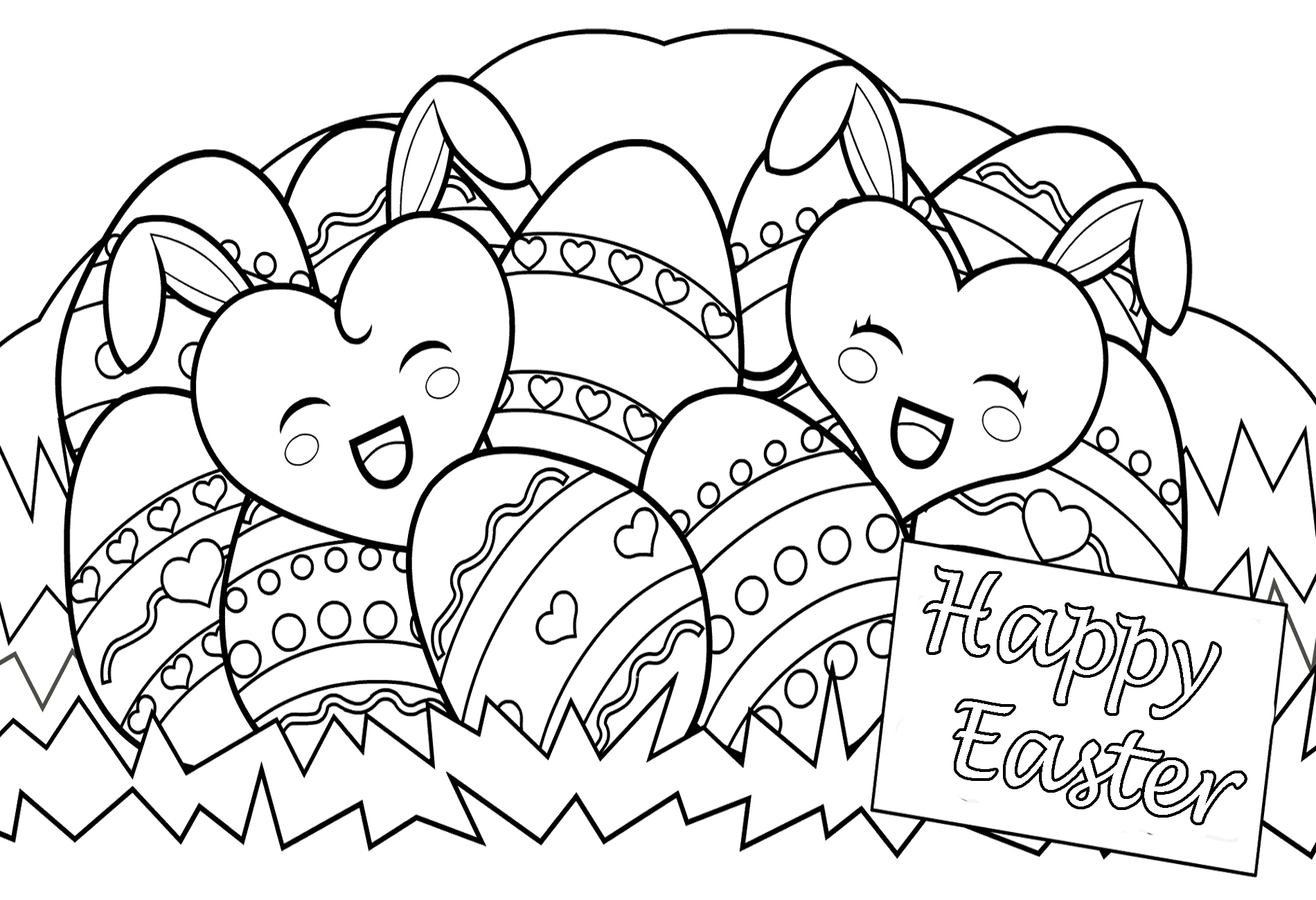 1900x1300 Happy Easter Drawing Hd Easter Images