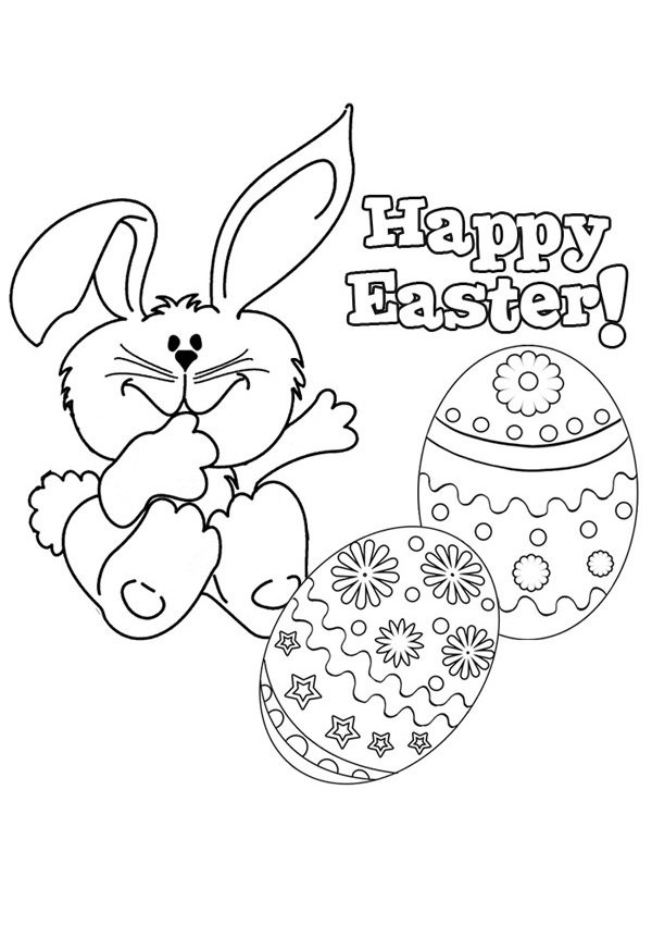 600x850 Happy Easter Coloring Page Printable Sheets