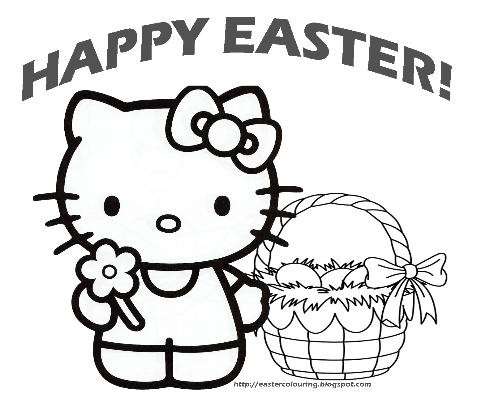 1542x1314 Easter Colouring Easter Hello Kitty Coloring