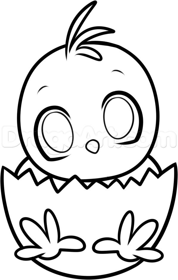 597x939 Easter Chick Drawings Happy Easter 2018