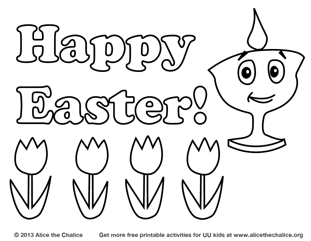 1074x831 Easter Coloring Pages Alice The Chalice