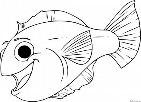 468x338 Print Out Happy Aquarium Fish Coloring Pages
