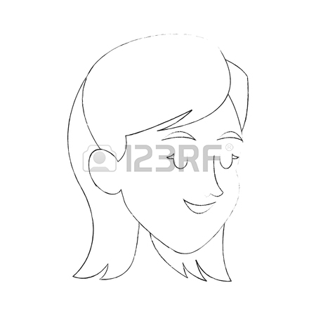 450x450 Happy Young Woman With Closed Eyes Cartoon Icon Image Vector