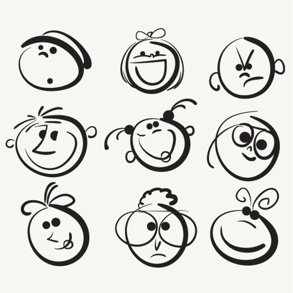 1000x1000 Joyful Cartoon Balloon Font Happy Birthday Vector Clip Art Icon